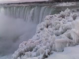 The Horseshoe Falls in winter
